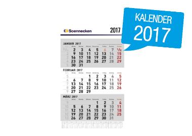 Soennecken Drei-Monatswandkalender 2017
