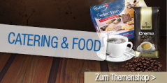 """Ob Meeting oder Kaffeepause, """"Catering & Food"""" bedeutet Genuss in der Tasse und auf dem Teller."""