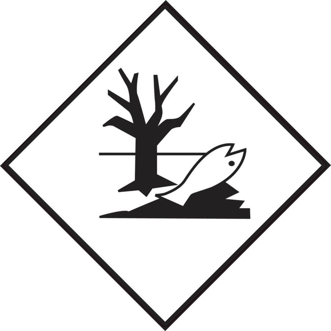 Gefahrgutetikett für umweltgefährdende Stoffe (Fisch/Baum)